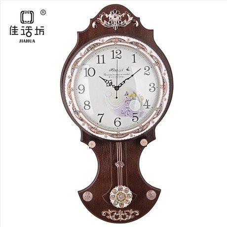 Wall charts MLA Ruhige Persönlichkeit Wohnzimmer im europäischen Stil Garten Vintage-Holz -Wanduhr Uhr Uhr Pendeluhr Dekoration