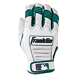 Franklin Sports Adult Robinson Cano CFX Pro Signature Series Batting Gloves, Adult Medium, Pair, Pearl/Teal