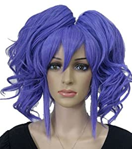 Amybria Purple Anime Animation Rebellious Lulu Repair Anya Short Cosplay Party Wig Clip Tail