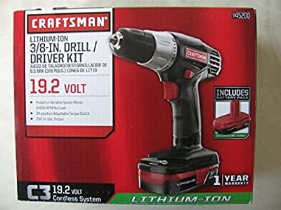 Craftsman C3 19.2-Volt Lithium-Ion 3/8-in. Drill/Driver Kit