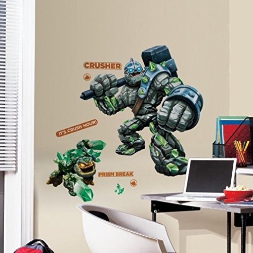 "Lunarland SKYLANDERS Crusher & Prism Break 40"" Giant Wall Decals Game Room Decor Stickers"