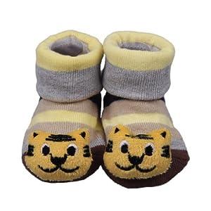 La vogue Zapatos Botas Para Bebé Niños Tejer Longitud 7 a 9cm Forma Tigre en BebeHogar.com