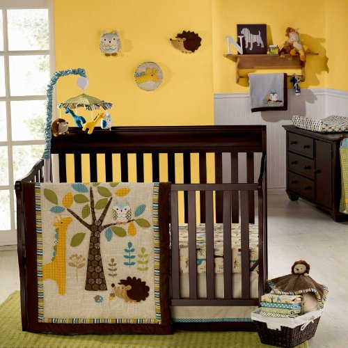 Graco 7 Piece Crib Bedding Set, in The Forest