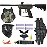 Spyder MR100 Pro Paintball Marker Gun 3Skull 4+1 9oz Protector Mega Set