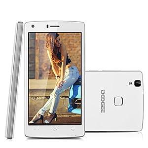 Doogee X5 Max Pro - 4G Smartphone Libre Android 6.0 (Pantalla 5.0'' IPS, MT6737M Quad Core 1.3GHz, 2G Ram, 16G Rom, Dual Sim, Dual ID, Smart Wake, Huella Dactilar)