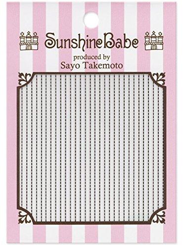 SunshineBabe ネイルシール ステッチ ブラック