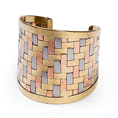 "Fair Trade ""Woven Dreams Multi-metal Cuff Bracelet"