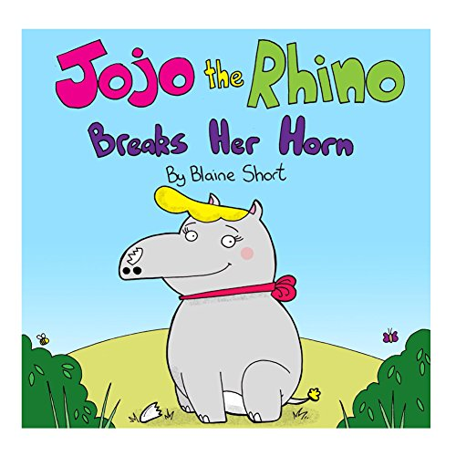 Jojo the rhino breaks her horn