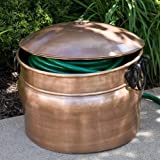 "Amphora Copper Hose Pot - With Lid - Antique Copper - 18-5/8"" x 16-1/2"""
