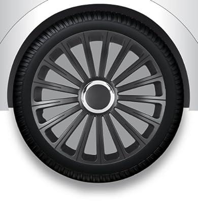 """13"""" Zoll Radzierblenden/Radkappen/Radabdeckung mit Tasche SCHWARZ ABS #35 von ZX auf Reifen Onlineshop"""