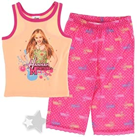 Hannah Montana Tank Top Capri Pajamas for Girls