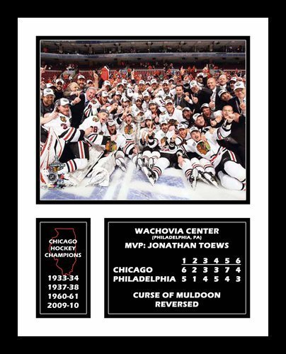 All About Autographs Inc. AAA-51407 2010 Chicago Blackhawks NHL Framed Photograph Stanley Cup Champions Team Celebration Milestone