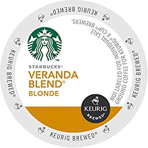 Starbucks Coffee, Veranda Blend Blonde K Cup Portion Pack for Keurig Brewers, 24 Count