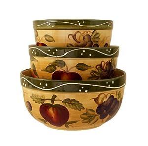 Kitchen Bowls Mixing Bowls Tuscany Fruit