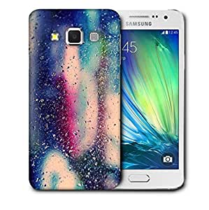 Snoogg Colorful Water Drops Printed Protective Phone Back Case Cover For Samsung Galaxy A3