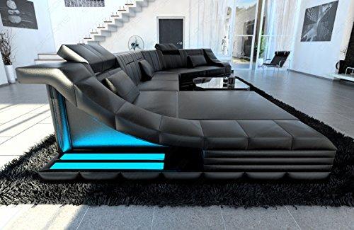 Luxus-Wohnlandschaft-TURINO-CL-XL-Form-schwarz-schwarz