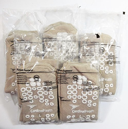 cardinal-health-medical-double-sided-non-skid-latex-free-large-tan-pack-of-5-pair