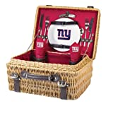 NFL New York Giants Champion Picnic Basket with Deluxe Service for Two, Red