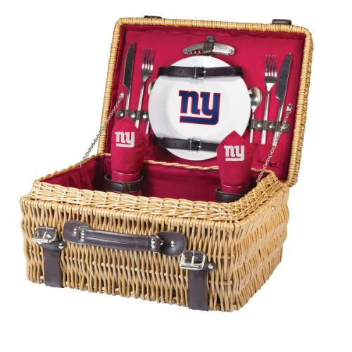 NFL New York Giants Champion Picnic Basket with Deluxe Service for Two, Red at Amazon.com