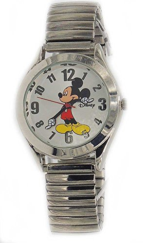 """Disney Women """"Vintage"""" Mickey Mouse Stretch band Watch 0"""