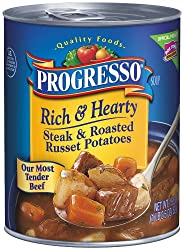 Progresso Rich and Hearty Soup, Steak and Roasted Russet Potatoes, 18.5-Ounce Cans (Pack of 12)