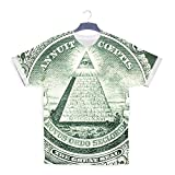 Illuminati Dollar Bill Bling Hip Hop Rap 3D T-shirt