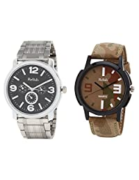 Relish Analog Round Casual Wear Watches For Men Combo - B01ANCDSJE