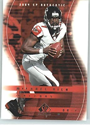 Michael Vick - Atlanta Falcons - 2004 SP Authentic Card # 3 - NFL Trading Card