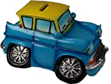 Classix Money Box By Regency- Ford Anglia blue and yellow car