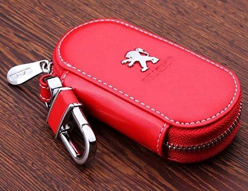 personalisiert-elegante-rindsleder-autoschlussel-schlusseltasche-schlusselanhanger-fur-peugeot-rot