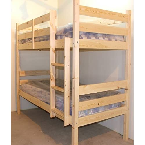 Adult Bunkbed - 3ft Single Bunk Bed - VERY STRONG BUNK! - Contract Use - has TWO centre rails for added support...