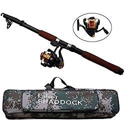 New 2.4m Fiberglass Telescope Baitcasting Fishing Rod And Reel Fly Fishing Casting Spinning Fishing Rods And Waterproof Bag Combo