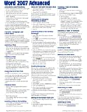 Microsoft Word 2007 Advanced Quick Reference Guide (Cheat Sheet of Instructions, Tips & Shortcuts - Laminated Card)