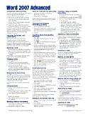 Microsoft-Word-2007-Advanced-Quick-Reference-Guide-Cheat-Sheets-of-Instructions-Tips--Shortcuts---Laminated-Card