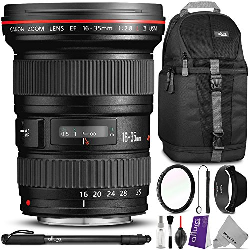 Canon-EF-16-35mm-f28L-II-USM-Ultra-Wide-Angle-Zoom-Lens-w-Essential-Bundle-Includes-Camera-Sling-Backpack-Camera-Monopod-Altura-Photo-Slim-UV-Camera-Cleaning-Set
