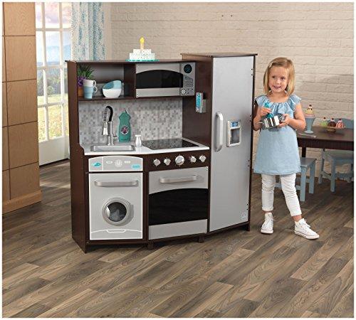 KidKraft Large Play Kitchen With Lights U0026 Sounds   Espresso