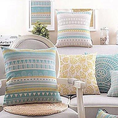bailandset-of-4-geometric-modern-cushion-coversofa-cushion-car-office-pillowcasebeige-cotton-blend-l