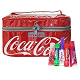 Coca Cola Lip Smacker 5 Piece Collection In Cosmetic Bag