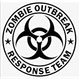 Zombie Response Team Biohazard Graffiti Funny Symbol Funny Bumper Sticker Car Van Bike Sticker Decal Free P&P