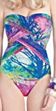 51o91wi97TL. SL160  Gottex Summer 2013 Tropical Paint Bandeau Swimsuit