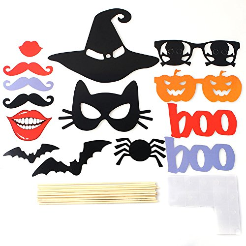 Feichen Carte Masques 14pcs Halloween Party bricolage Photo Booth Props