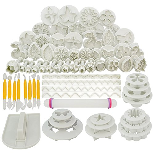 Marrywindix 68pcs 21 Sets Cake Decration Tool Set By Catalina Fondant Cake Cutter Mold Sugarcraft Icing Decorating Flower Modelling Tools (Bakery Supplies compare prices)
