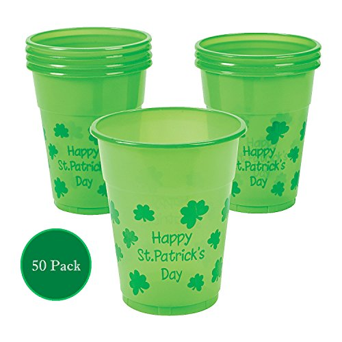 St. Patrick's Day Disposable Cups : package of 50