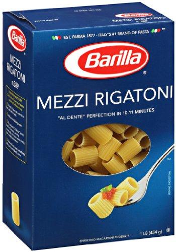 Barilla Mezzi Rigatoni, 16-Ounce Boxes (Pack of 16)