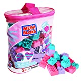Mega Bloks Value Bag - 80 Piece Mini Bloks Pink Set