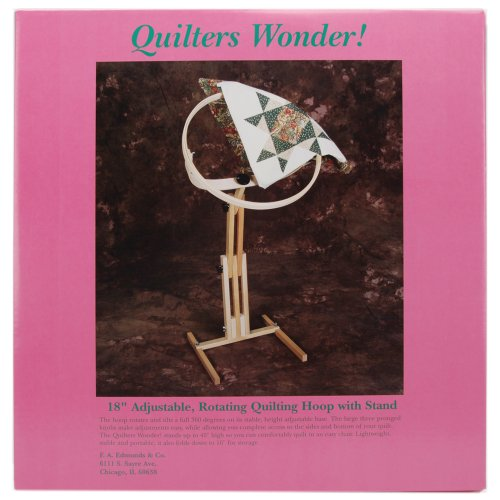 F.A. Edmunds Quilters Wonder Adjustable Quilting Hoop Frame with Stand
