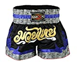 Maxx Muay Thai Boxing Shorts, Kick Boxing, mma shorts blk/blu/grey