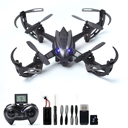 RC-Drone-with-2MP-HD-Camera-RC-Quadcopter-4CH-6-Axis-Gyroscope-24-GHz-Remote-Control-Quadcopter4G-SD-Card-Card-Reader-Included