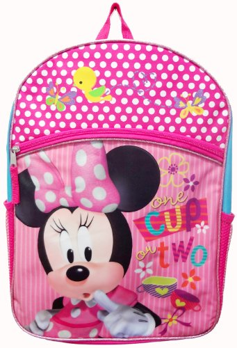"Disney Minnie Mouse 16"" Large Backpack School Bag"