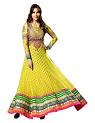 Stylelok Yellow Georgette Anarkali Suit With Matching Dupatta Sl 1516910